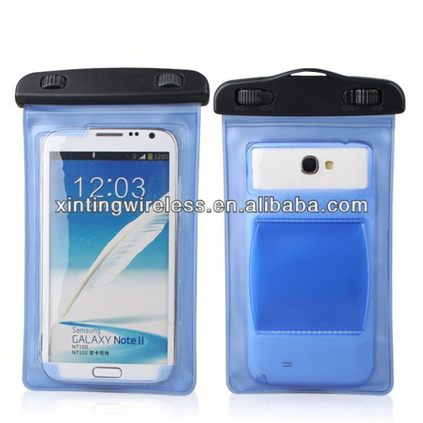 Cheap custom mobile phone cases Watertight bag for samsung note2 n7100 case for note2