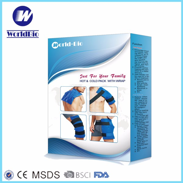 Flexible Reusable Gel Hot Cold Pack With Wrap For Back Pain Relief
