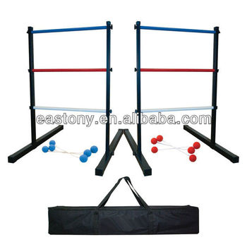 Metal Ladder Toss Ball Game Including Carrying Case
