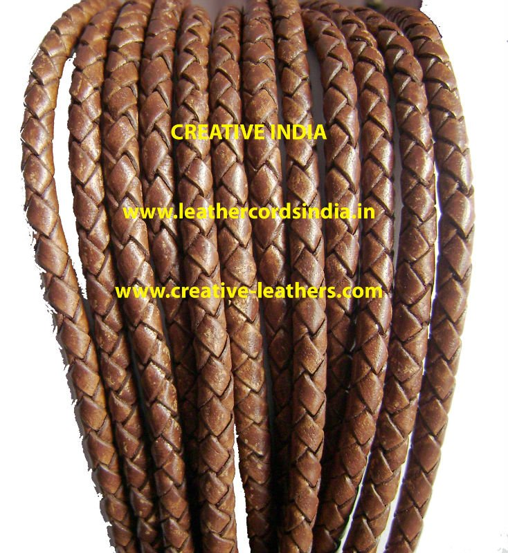 3MM LEATHER BRAIDED LEATHER CORDS