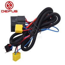 high quality H4 9003 Headlight Booster Cable Wire Harness Connector Relay Fuse Socket Black H4 Headlight Connector Fuse Socket