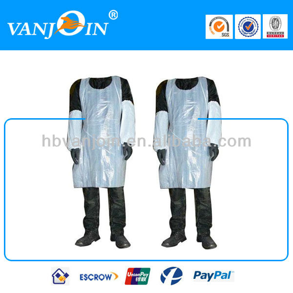 Disposable Plastic Adult Bib Apron