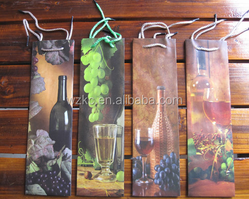 Top sale full color printing folding wine bag for promotion in 2015