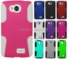 For LG Optimus F60 Hybrid Silicone Rubber Skin Case Cover