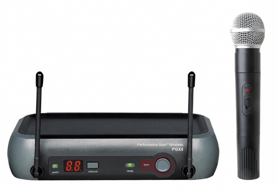 Hot sale mini VHF wireless microphones system with handheld mic PGX-5