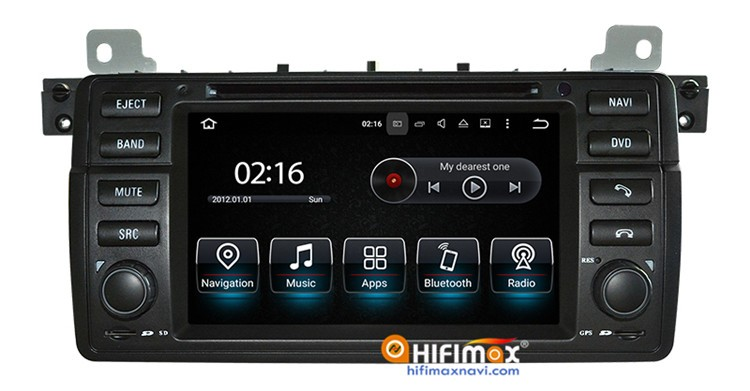 Hifimax 2 din Android 5.1 car radio for bmw e46/car multimedia for bmw e46 radio navigation dvd OBD DAB Quad Cord 16G HD 1080P