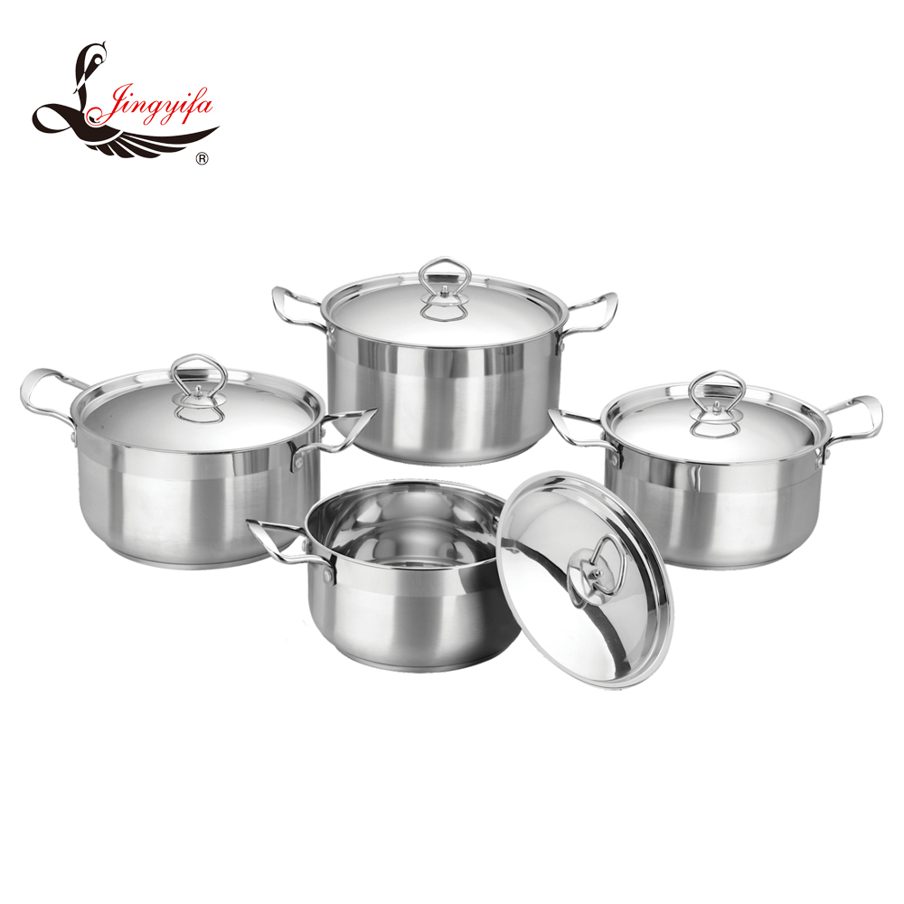 8 PCS economic stainless steel kitchen cookware with various color