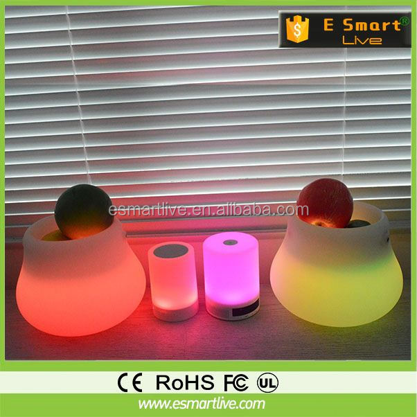 led under table light lighting solar table lamp with bluetooth speaker