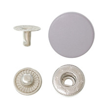 Metal Snap Fastener Set Buttons Round Silver Tone Mauve Lead & Nickel Free 17mm x 5mm 10mm x 7mm 12mm x 4mm 11mm x 4mm