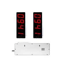 Cool silver shell wireless queue display