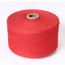 Leading manufacturer dyed carded recycled cotton yarn for working gloves Nm10