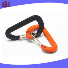 plastic spring loaded hook,bag carabiner clips,plastic snap hook