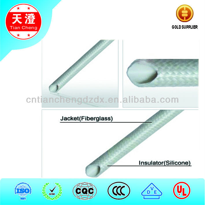 Rohs Approval Fiberglass-outside and silicone rubber inside tube