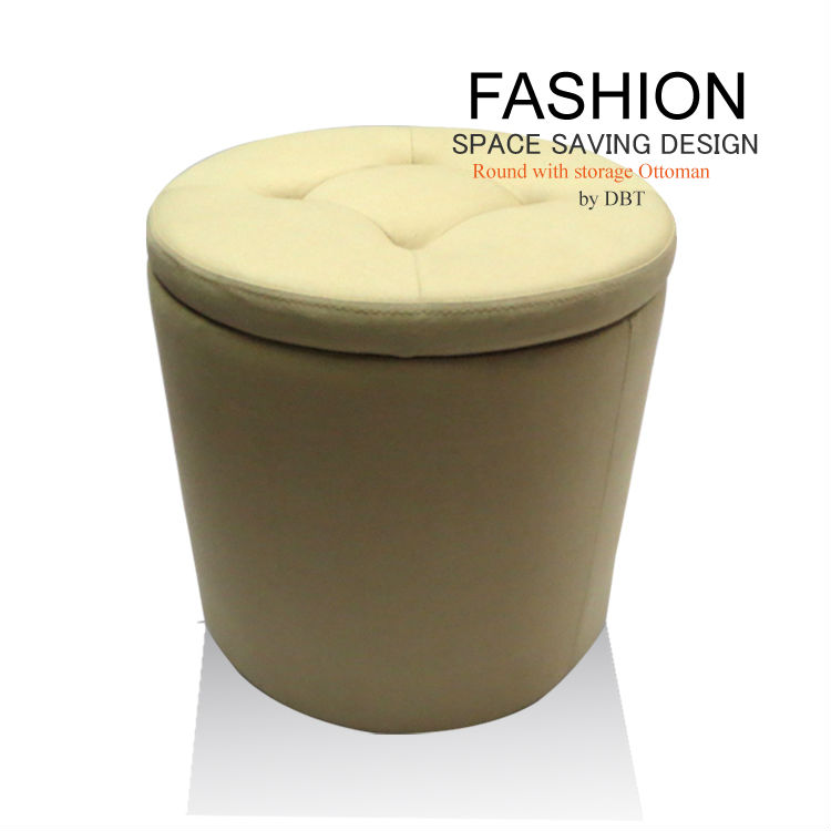 2013 Hot Selling Round with storage Ottoman
