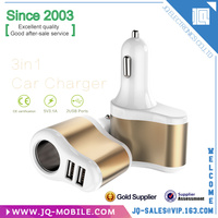 Accessories for mobile phones 3 in 1 dual usb port car charger for apple and android