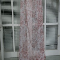 Unique European printed pattern polyester woven voile window curtain fabric