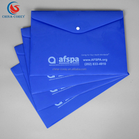 pp hard plastic snap envelope document file folder with customized printing