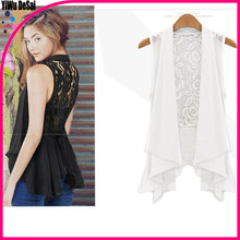 Big yards chiffon Bertha In the long lace jacket vest