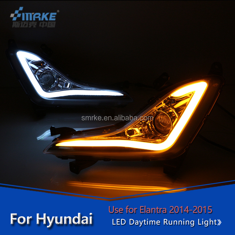 Hyundai part led daytime running light For hyundai Elantra 2015 DRL fog lamp car accessories