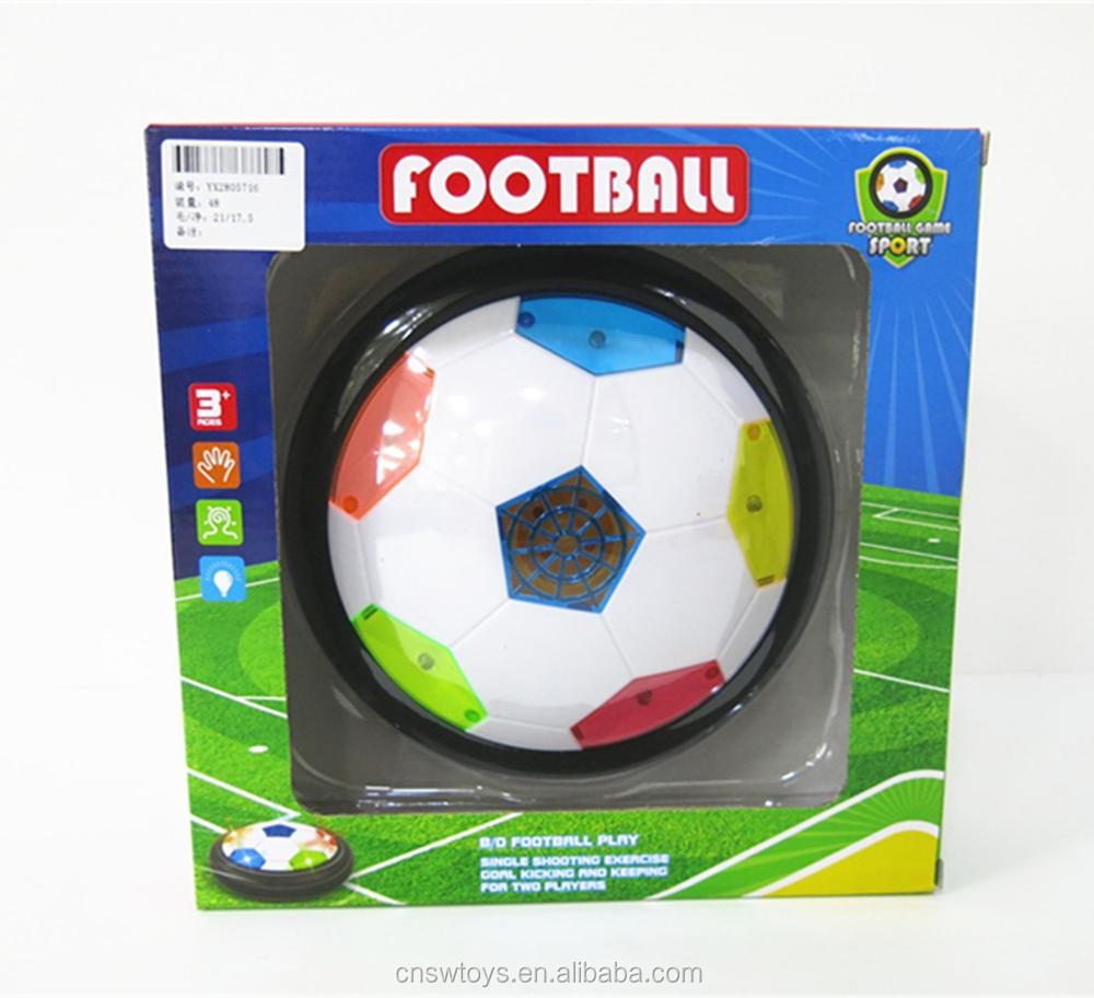 YX2805716 Sport toys battery operated 19CM suspending footbal aire hover soccer with colorful light for kids