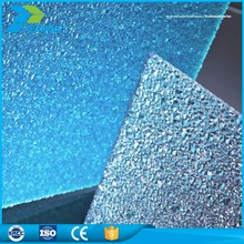 Light weight china wholesale hard plastic twin wall polycarbonate embossed roofing sheet