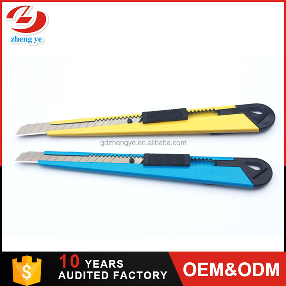 9mm blade free sample metal credit card knife cutter