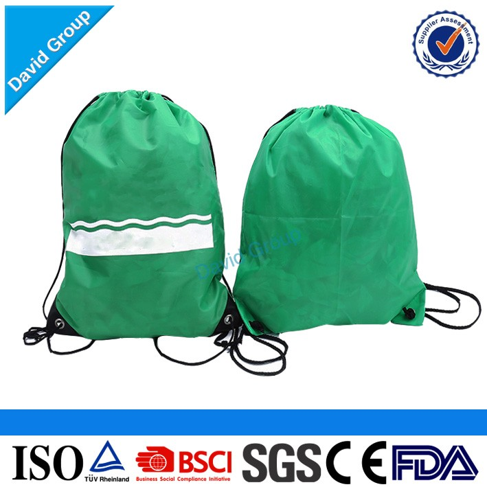 Personalized Logo Branded Promotional Nylon Drawstring Bag&Waterproof Drawstring Bag
