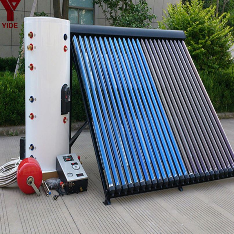 Split Solar Water Heater with copper coil tank for family use in bathroom