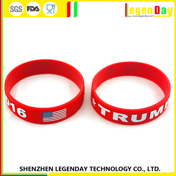 2016 wholesale Festival gift custom silicone wristband / bracelet / rubber band for kids