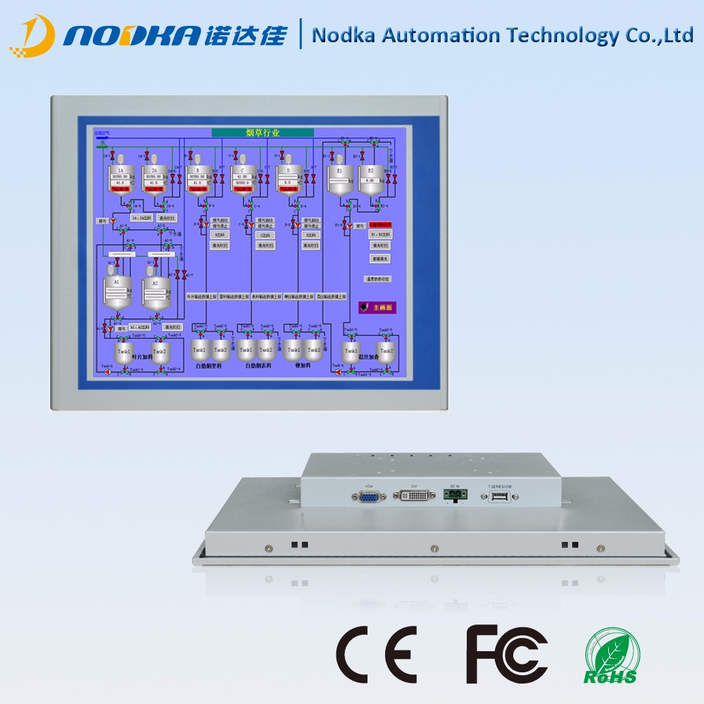 15 inch resistive display, panel mount monitor,front panel ip65