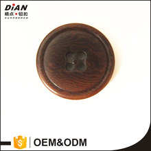 DIAN, Shiny Polished Dark Brown Genuine Corozo Pant Buttons