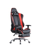 Racing Gaming Ergonomic Chair High Back Reclining PU Leather Computer Desk Swivel Office Chair With Footrest