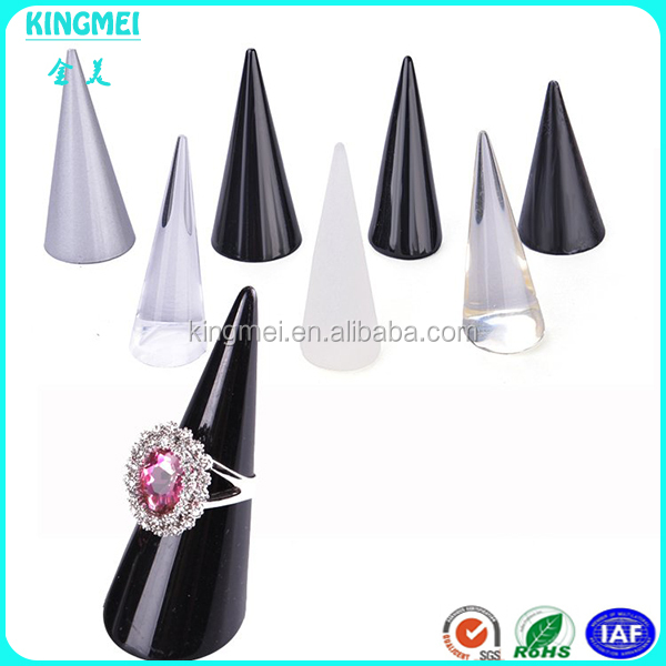 Wholesale custom size finger ring displays for shop counter and cabinet exhibitor acrylic ring stand