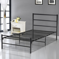 3FT Modern Metal Single Bed Frame Bedroom in Black Bedstead