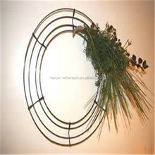 HR wholesale artificial metal wire wreath frame in decorative flower & wreath