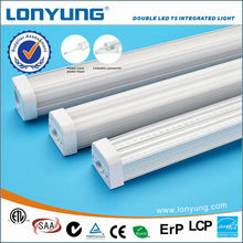 led commercial ceiling lights fitting 120cm 4ft 30W double led t5 integrated tube light