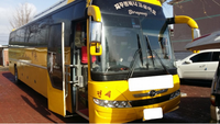 High quality daewoo brand Used Coach bus for sale yellow Seats 41 - 60