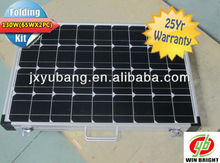 130W 12V (65WX2)Portable Folding solar panel for home use solar home system solar home kit