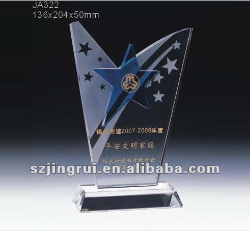 New Design Glass Stars Crystal Award Trophies Plaques