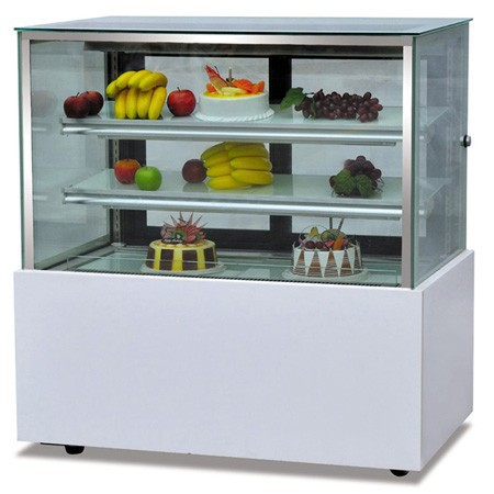3 Layers cake display cooler & display chillers/freezer cooler with wheels for sale
