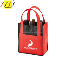 6 bottles carry bag stitch strong nonwoven polypropylene wine bags with handle