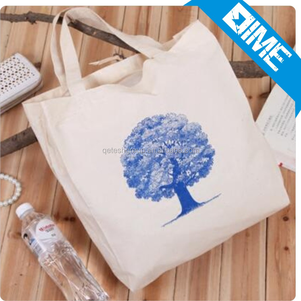 Customized Printing Shopping Standard Size Cotton Tote Bag For Wholesale