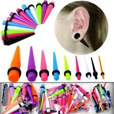 Fashion body jewelry wholesale mixed color acrylic 12mm ear stretchers