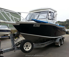 Aluminum Deep V Bottom Hard Top Cabin Marine Fishing Boat For Sale/Alloy Boats 22FT 24FT For Fishing