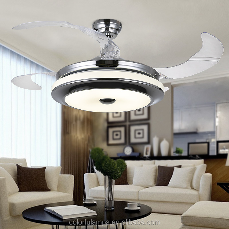 New design 42 inch LED ceiling fan light with hidden blades and Remote Control 4205