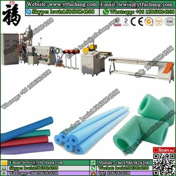 epe foam pipe/stick out the production line