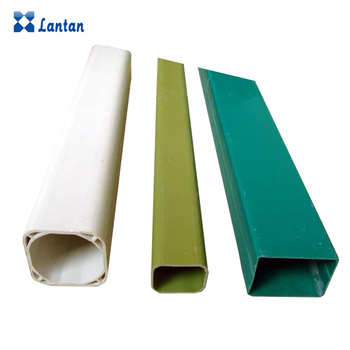 plastic pvc square rectangular pipe for hydroponic plant and drainage