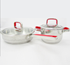 MSF stainless steel handles for cookware in red color/Special decal frypan with detachable handle