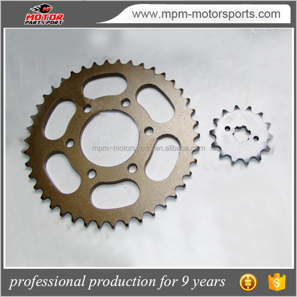 Sprocket Kit Motorcycle Parts used for bajaj discover chain sprocket