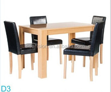 TOP Quality new design wood dining table and stool ,dining table set